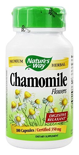 Natures Way Chamomile Flowers 350 mg Capsules - 100 ea, (Flowers Natures Way)