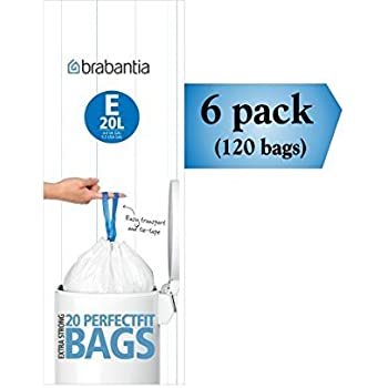 Amazon.com: Brabantia – Bolsa basura PerfectFit e 20 Litro ...