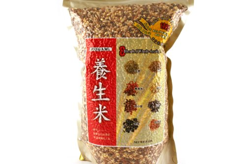 8 Blended Wholegrain Rice 5lbs (Pack of 3) by Mogami