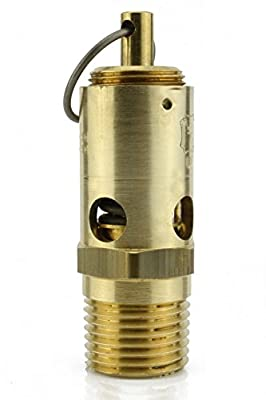 "wistri shop New 1/2"" NPT 200 PSI Air Compressor Safety Relief Pressure Valve Tank Pop Off"
