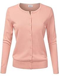 Women's Long Sleeve Button Down Soft Knit Cardigan Sweater