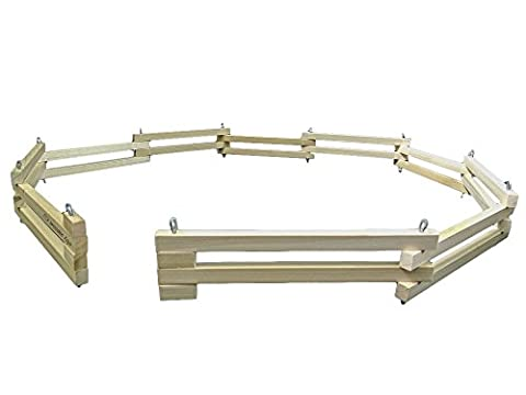 Amish made Wooden Toy Folding Corral Fence (almost 6 ft long) for Farm and Horse - Folding Horse Stable Wood