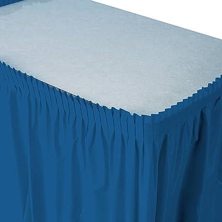 ShindigZ Falda de mesa de plástico azul marino: Amazon.es: Hogar