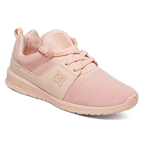 DC Women's Heathrow Skateboarding Shoe, Peach Cream, 7 B US