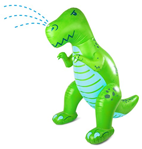 BigMouth Inc Ginormous Inflatable Green Dinosaur Yard Summer Sprinkler, Stands Over 6 Feet Tall, Perfect for Summer Fun Dinosaur Water