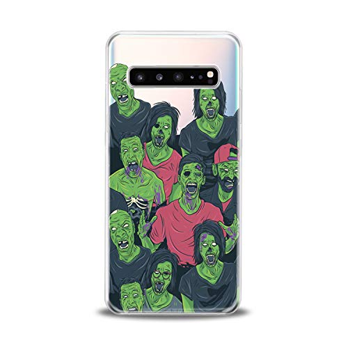 Lex Altern TPU Case for Samsung Galaxy s10 5G Plus 10e Note 9 s9 s8 s7 Clear Creative Funny Green Zombies Portrait Horror Scary Cover Soft Silicone Protective Transparent Girl Teen Gift]()