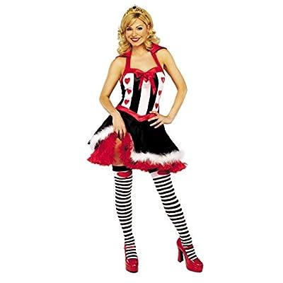 Queen of Hearts Womens Fancy Dress Costume Halloween Valentines
