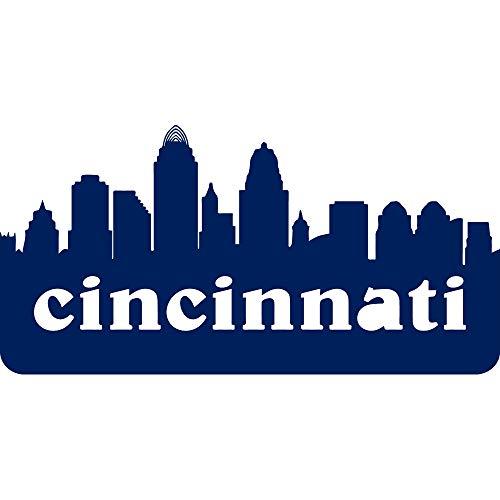 NBFU DECALS MLB Cincinnati Reds City (Navy Blue) (Set of 2) Premium Waterproof Vinyl Decal Stickers for Laptop Phone Accessory Helmet CAR Window Bumper Mug Tuber Cup Door Wall Decoration
