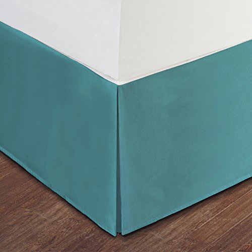 Turquoise Bed Skirt: Tailored Pleat, 14'' Drop (Twin XL)
