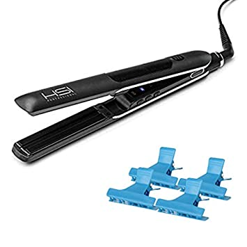 HSI Professional Glider Steamer 1u201d Ceramic Flat Iron W/Steam Dispenser, A  Bonus