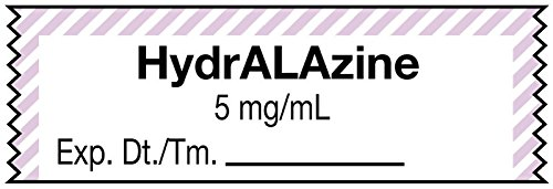 MedValue Anesthesia Tape, HydrALAzine 5 mg/mL , 1-1/2'' x 1/2'' - 500 Inches Per Roll by MedValue