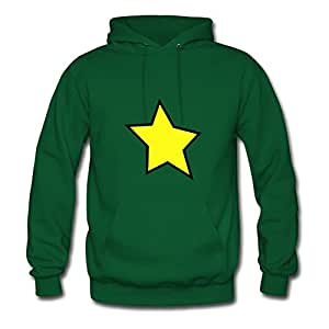 Green Regular Lightweight Star Sweatshirts X-large Women Custom