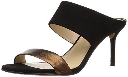 Vince Camuto Women's Navinta Heeled Sandal, Bronze/Black, 10 M (Bronze Evening Sandals)