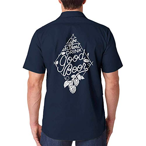 Craft Beer Shirt, Homebrewer Gift, Brewery Shirt, Dickies Work Shirt, Life Is Short Drink Good Beer, Christmas Gift, Gift for Dad