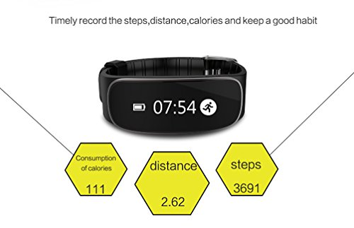 Chinatmax Bluetooth Smart Bracelet Sport Pedometer Fitness Watch Heart Rate Monitor Activity Tracker Sleep Monitoring Calories Tracker Message Reminder For iOS iPhone, Android Samsung Phones (Purple) by Chinatmax (Image #4)