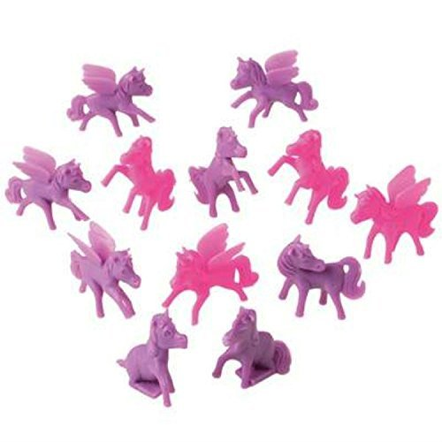 Pony Mini Cupcake Toppers, Pink and Purple (Set of 12), 2