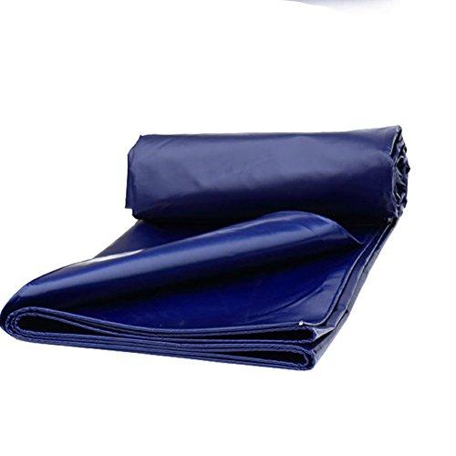 AJZGF Im Freien Plane Zelt Dicke Wasserdichte Sonnenschirm LKW Poncho verschleißfeste Anti-Korrosions-Träne, Blau