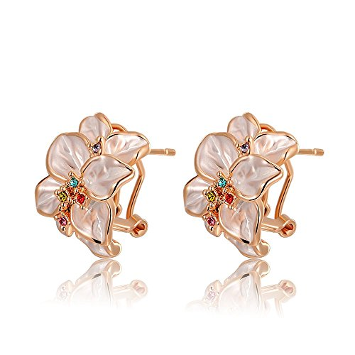 Price comparison product image Angelady Fashion Statement Rose Earrings Best Gift For Girlfriend Pure Handmade Elegant For Women Party