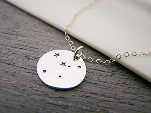 Cancer Zodiac Constellation Necklace - Sterling Silver - Astrology Necklace - Gift for Her