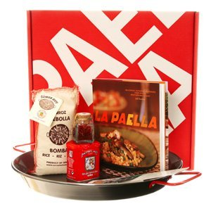 La Paella Kit with 14-Inch Carbon Steel Pan in Gift Box LLC. SET-01