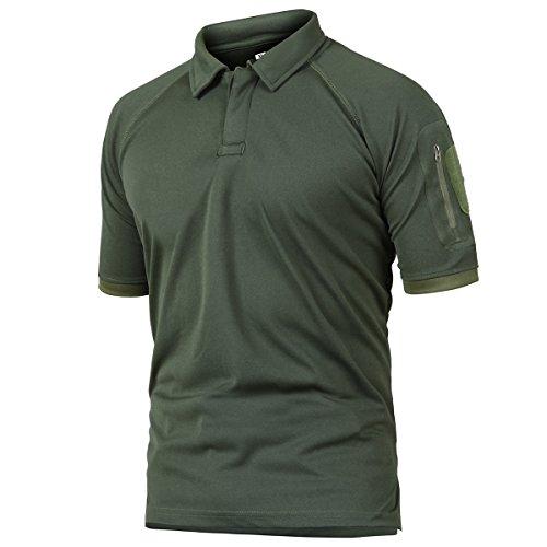 8c0a705fa80e6 ReFire Gear Men's Army Tactical Polo Shirt Military Outdoor Sport ...