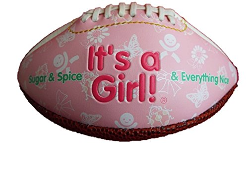 Its a Boy (Blue) and It's a Girl (Pink) Self Personalized Baby Gifts. Great ideas for Keepsakes, Shower Favors and Gender Reveals. Basketball, Football and Baseball. (Baby Pink Mini (Football Baby Shower Ideas)