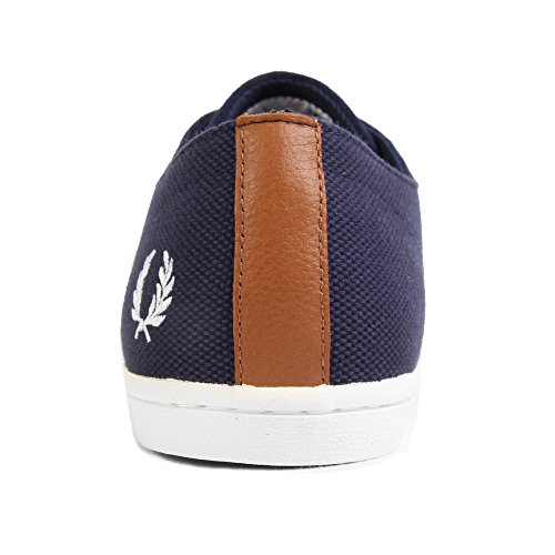 Fred Perry Byron Low Suede Woven Carbon Blue Blue