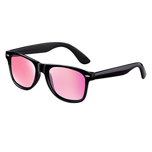 wearPro Wayfarer Sunglasses for Men Women Vintage Polarized Sun Glasses WP1001 Bright/Pink