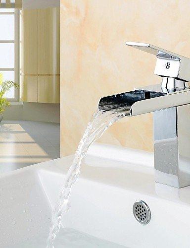 Waschbecken Wasserhahn Zeitgenössische Design WasserfaÖl Messing hochwertigen Wasserhahn (verchromt)