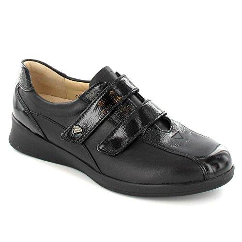 Finn Nara6 Vernice 2 Nairobi Scarpa Donna Velcro Comfort Vitello E bf76Ygy