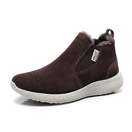 hello momoya Sheepskin Winter Boots Snowboots Warm Shoes Warm Comfort Cozy Wool Cow Suede Shoes Ankle Bootie Australian Merino Sheepskin Slippers Brown