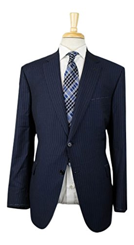 Brioni Wool Suit (BRIONI 'Brunico' Blue Super 150s Wool-Silk 2 Button Suit Size 58/48 R)