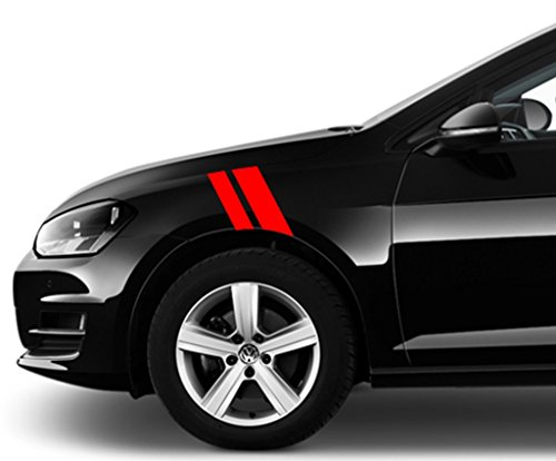 VolksWagon Golf and GTI Fender Hash Mark Bars Vinyl Racing Stripes Grand Sport Graphic Decals 2