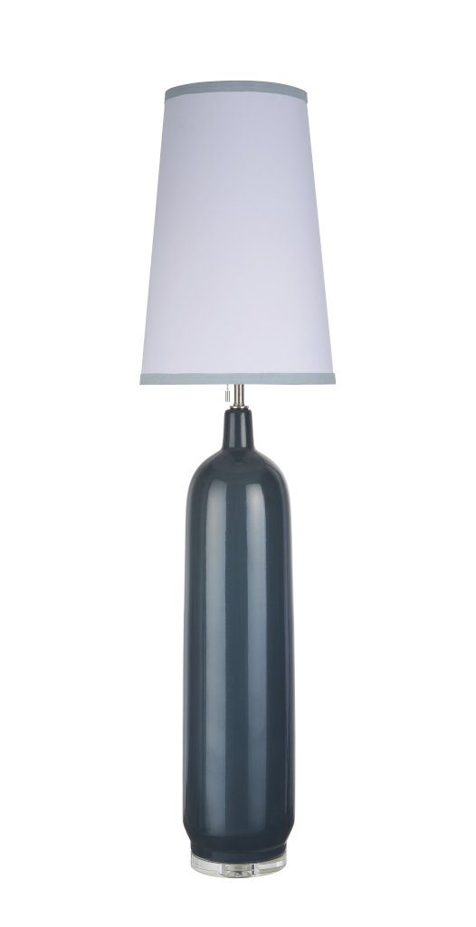 Aspen Creative 45006-2, 1-Light Ceramic Floor Lamp, Transitional Design in Slate Blue, 56'' High