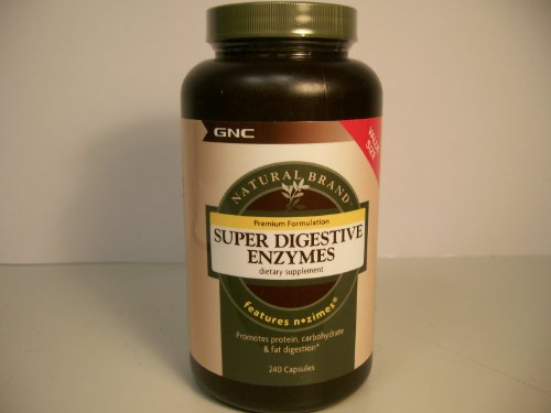 GNC Natural Brand Super Digestive Enzymes - VALUE SIZE 240 Capsules