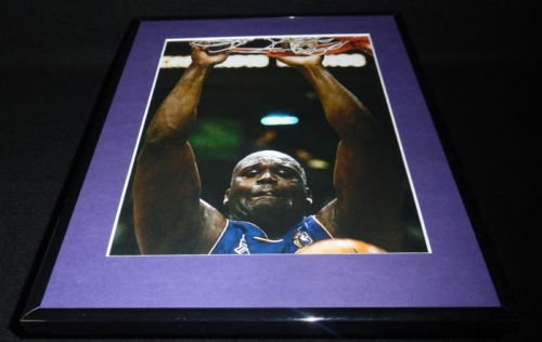 Shaquille O'Neal DUNK Framed 11x14 Photo Display LA Lakers