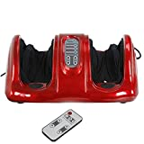 HomGarden Electric Foot Calf Ankle Leg Massager Shiatsu Kneading Rolling Vibration Massager Relaxation Personal Health