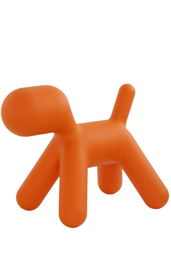 Puppy M - Chien orange-matière plastique-Taille 2-LxPxH 56 -5x34x45cm