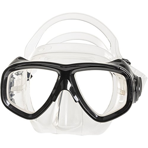 Scuba mask prescription. IST M80 2 Lens Snorkel Diving Mask with Optional Prescription Lenses, Low Profile & Hypoallergenic Silicone Seal (Black, Farsighted +1.0)