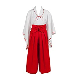 (AnimeGo) Inuyasha Kikyo Simplified Cosplay Costume mp002403