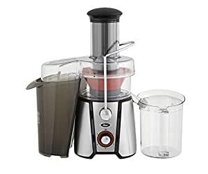Oster JusSimple 5 Speed Easy Clean Juice Extractor with Extra-Wide Feed Chute, FPSTJE9020-000, 1000W, Black/Silver by Oster