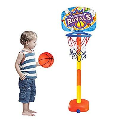 Xisheep Education Toys, Basketball Royals Toddler Basketball Hoop Toy Indoor Outdoor Kit for Children, for Home & Pastime: Home & Kitchen