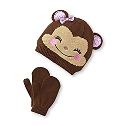 Monkey Face Beanie and Mittens