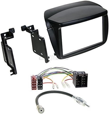 Carmedio Fiat Doblo Ab 10 2 Din Autoradio Einbauset In Original Plug Play Qualität Mit Antennenadapter Radioanschlusskabel Zubehör Und Radioblende Einbaurahmen Schwarz Navigation