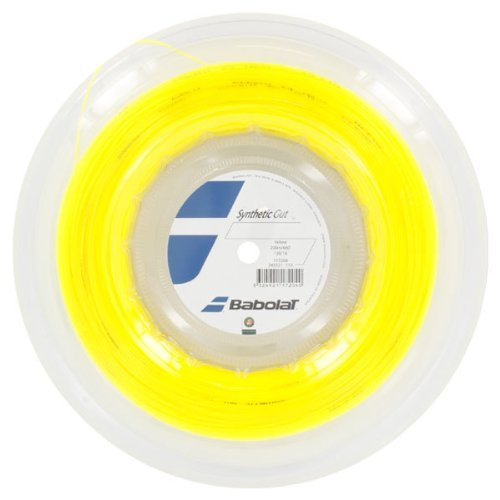 Babolat-Synthetic Gut 16G Tennis String Reel Yellow-(3324921172040) (Best Synthetic Gut String For Hybrid)