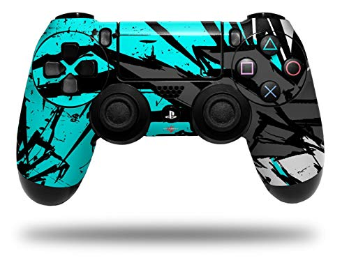 Vinyl Decal Skin Wrap compatible with Sony PlayStation 4 Dualshock Controller Baja 0040 Neon Teal (PS4 CONTROLLER NOT INCLUDED)
