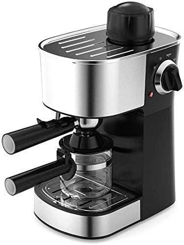 FFSM 800W de Vapor Semi-automático de la máquina de café Espresso Pausa Tipo de sobrecalentamiento Protección contra sobretensiones Función Cafetera Acero Inoxidable Decoración Negro plm46: Amazon.es: Hogar