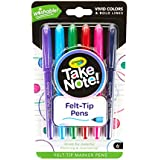 Crayola Take Note Felt Tip Pens, Assorted Colors, Medium Pt., School Supplies, 6Count