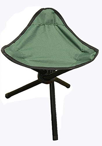 Sigmat Lightweight Portable Camp Stool Tripod Camp Chair for Outdoor Camping (Navy - Lb Tripod 200