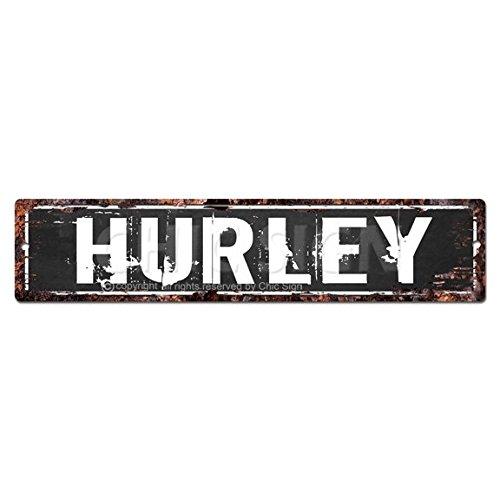 Hurley hombre cueva Street Sign Tin Chic rústico calle Placa ...